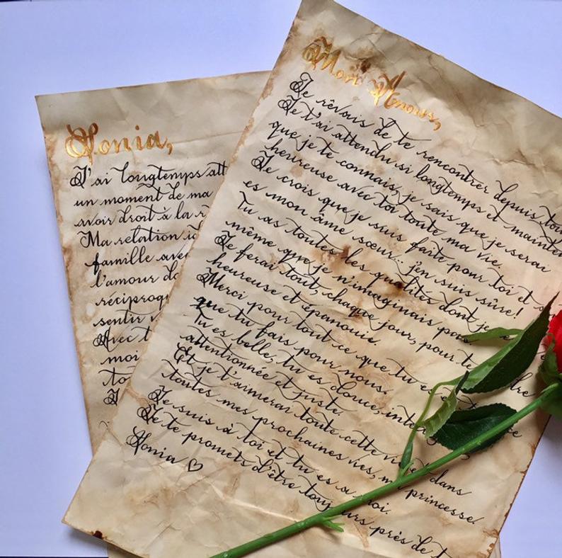 custom parchment